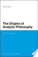 Origins Of Analytic Philosophy