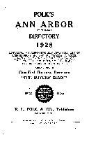 Polk s Ann Arbor  Ypsilanti and Washtenaw County Directory