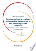 Studentisches Schreiben italienischer Lernender in der Fremdsprache Deutsch