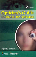 Optician s Guide  A Manual for Opticians
