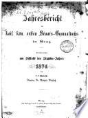Jahresbericht des 1. Staatsgymnasiums in Graz
