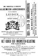 De Breuk & Smits' algemeen adresboek van de gemeente Leiden