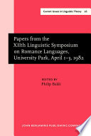 Papers from the XIIth Linguistic Symposium on Romance Languages