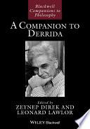 A Companion to Derrida