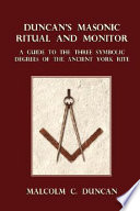Duncan S Masonic Ritual And Monitor