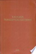 Calvinus Praeceptor Ecclesiae