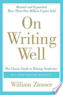 On Writing Well  30th Anniversary Edition