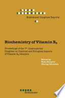Biochemistry Of Vitamin B6 book