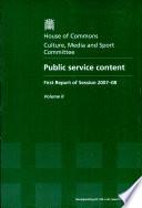 Public Service Content