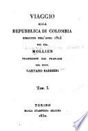 Viaggio alla republica di Colombia