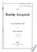 Das deutsche kriegslied