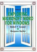 Exploring Microsoft Word for Windows