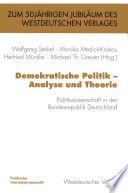 Demokratische Politik — Analyse und Theorie