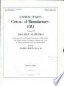 United States Census Of Manufactures 1954