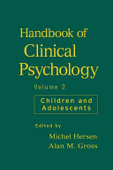 Handbook of Clinical Psychology  Children and Adolescents