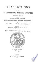 Translations of the International Medical Congress  Seventh Session  Held in London  August 2d to 9th  1881