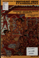 Contributions to Southeast Asian Ethnography