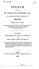 Speech delivered ... July 16th, 1826, wherein the ancient fame of Ireland, and her liberal contributions to the diffusion of religion, science and civilization, throughout Great Britain and other nations, are, in part, illustrated
