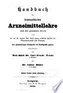 Handbuch der homöopathischen Arzneimittellehre