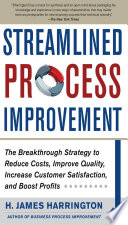 FREE ] Read Streamlined Process Improvement by H  James