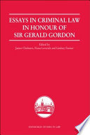 Essays in Criminal Law in Honour of Sir Gerald Gordon