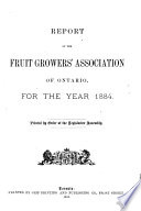 Report Of The Fruit Growers Association Of Ontario