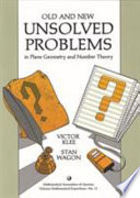 Old and New Unsolved Problems in Plane Geometry and Number Theory Pdf/ePub eBook