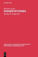 Dissertationes