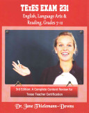 Texes Exam  231 English Language Arts   Reading  Grades 7 12 3rd Edition