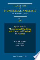 Mathematical Modelling and Numerical Methods in Finance