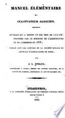 Elementar handbuch des els  ssischen ackerbauers