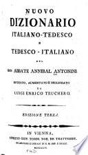 Nuovo dizionario italiano tedesco e tedesco Italiano