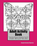 Adult Activity Book Inspirational Quotes