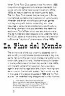 La Fine Del Mondo by Marco Fusinato  Felicity D  Scott and Mark Wasiuta