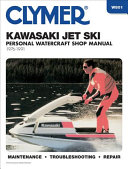 Clymer Kawasaki Jet Ski Personal Watercraft Shop Manual 1976 1991