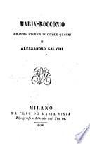 Marin Boccomio  dramma storico in 5 quadri
