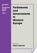 Ebook Parliaments in Contemporary Western Europe Epub Philip Norton Apps Read Mobile