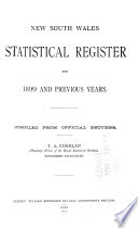Statistical Register for ... and Previous Years