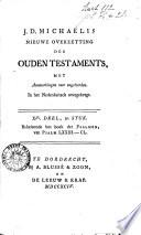 Nieuwe overzetting des Ouden Testaments