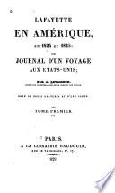 Lafayette en Amérique, en 1824 Et 1825