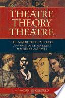 Theatre  Theory  Theatre