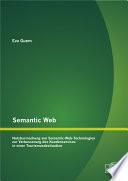 Semantic Web: Nutzbarmachung von Semantic-Web-Technologien zur Verbesserung des Kundenservices in einer Tourismusdestination