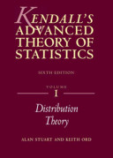 Kendall s Advanced Theory of Statistics