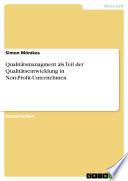 Qualitätsmanagment als Teil der Qualitätsentwicklung in Non-Profit-Unternehmen