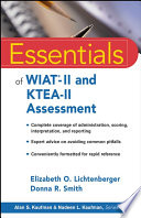 Essentials of WIAT II and KTEA II Assessment