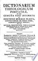 Dictionarium theologicum portatile