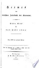 Hermes  Oder  Kritisches Jahrbuch Der Literatur