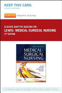 Elsevier Adaptive Quizzing for Lewis Medical surgical Nursing  36 month