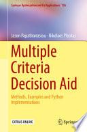 Multiple Criteria Decision Aid