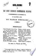 Goldoni e le sue sedici commedie nuove commedia storica in quattro atti di Paolo Ferrari